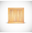Wooden box isolated vector image vector image