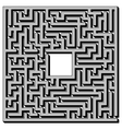 Labyrinth Isolated on White Background vector image