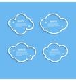 Quote outline cloud set vector image