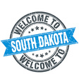 Welcome to South Dakota blue round vintage stamp vector image