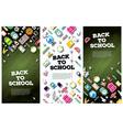 Back To School Banner Set with School Supplies vector image