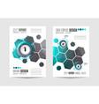 brochur templat brochure flyer template design vector image