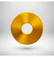 Gold Abstract Donut Button Template vector image