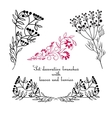 Hand drawing decorative floral elements vector image