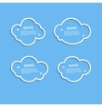 Quote outline cloud set vector image