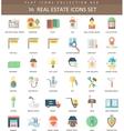 Real estates color flat icon set Elegant vector image