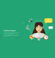technical support banner vector image