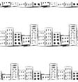Urban line landscape ink imitation drawing on a vector image