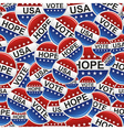 Vote USA badge pins pattern vector image
