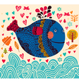Decorative Fish Background vector image