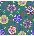Seamless background with doodle circles vector image