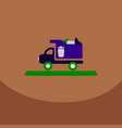 garbage collection garbage truck management vector image