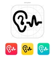Ear hearing sound icon vector image