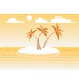 island in the sun vector image