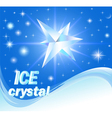 background with shiny crystals of ice vector image vector image