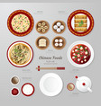 Infographic China foods business flat lay idea vector image