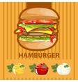 Big tasty burger vector image vector image