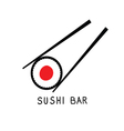 sushi bar icon vector image