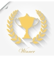Cup Award with laurel wreath vector image