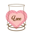 love decor card cute heat vector image