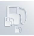 modern filling station background vector image