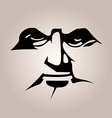 Monochromatic stencil mask black face features on vector image