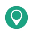 pointer map location green circle vector image