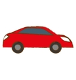 red car city scene image design vector image