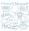 Set of ribbons and elements for party invitation vector image