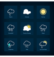 Set of weather symbols vector image