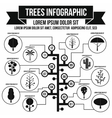 Tree infographic simple style vector image