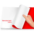 Turning page vector image