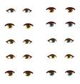 Human eye set vector image