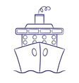 Hand drawn cruise ship in format vector image