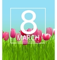 Womens Day Greeting Card 8 March vector image