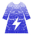electricity female dress textured icon vector image