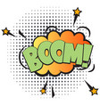 boom comic speech bubble in pop art style vector image