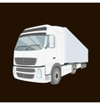 White delivery truck isolated vector image vector image