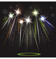 neon spotlight background vector image