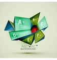 Geometric shapes with sample text Abstract vector image vector image