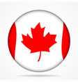 button with waving flag of Canada vector image