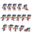 Action Girl Game Sprites vector image vector image