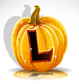 Halloween Pumpkin L vector image