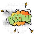 boom comic speech bubble in pop art style vector image