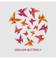 Flat design with origami butterfly vector image