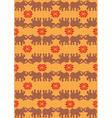 indian elephant orange background vector image