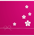 pink card with flowers vector image