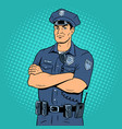 policeman pop art vector image