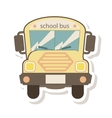 school bus transport isolated icon vector image