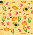 autumn harvest seamless pattern vector image